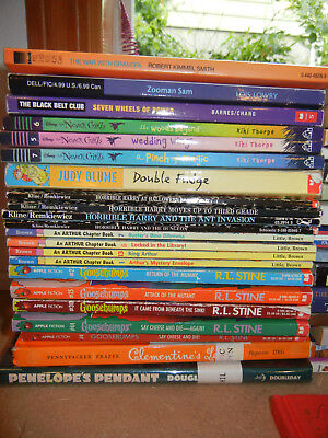 Lot 100 Kids Reading and Chapter Books Various Reading Levels