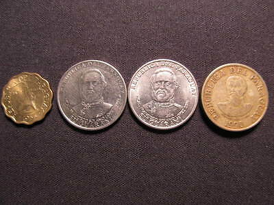 (4) Paraguay Coins - Coins of Paraguay - 4 Paraguay Coins Included In This Lot