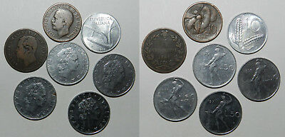 7 OLD ITALIAN COINS 19th-20th Century - GOOD LOT