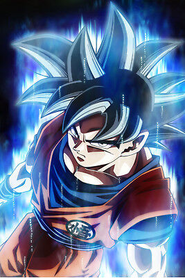 Dragon Ball Super Poster Goku Ultra Instinct 12inx18in Free Shipping