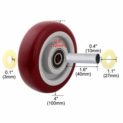 Household Market Shopping Cart Pallet Hand Truck Replacement Casters Wheel