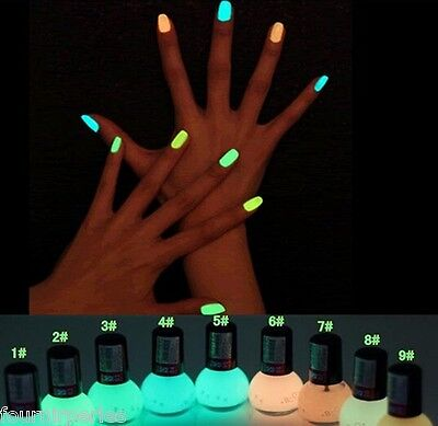FP 8ml Vernis à Ongles Fluo Nail Polish Nail Art Lumineux Candy 9 Couleurs