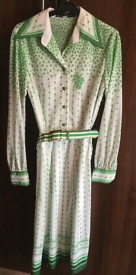 True Vintage Polyester Jersey Masters 50's 60's 70's Retro Tea Dress Size 12