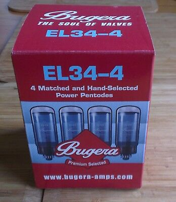 EL34 Bugera Matched Quad Set (4 Valves) - New & Boxed