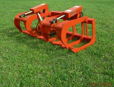 "2018 MTL Attachments HD 60"" Skid Steer Root Grapple Twin Cylinder-Universal fit"