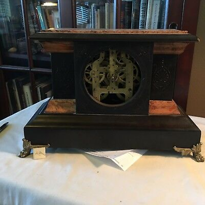 "Antique Original Seth Thomas Adamantine Mantle Clock 16"" X 11"" And 6.5 Inches"