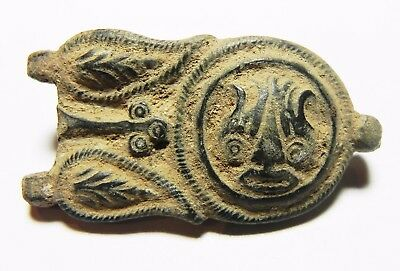 ZURQIEH - aa9697- ANCIENT JORDAN. ROMAN BRONZE BELT BUCKLE. 300 A.D