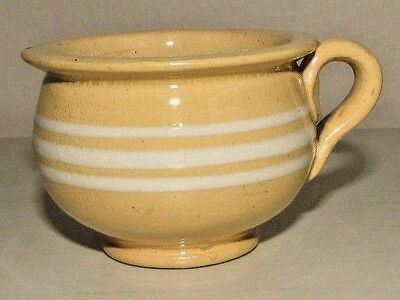 Antique Miniature Yellow Ware Chamber Pot 1.75""