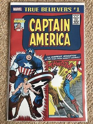 True Believers Captain America #1 - Kirby 100th Anniversary - Marvel - NM