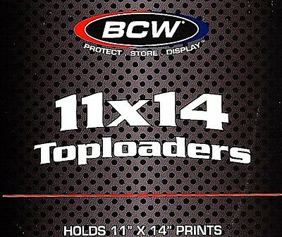 100 BCW 11X14 Top Load Holders Rigid Plastic Toploaders