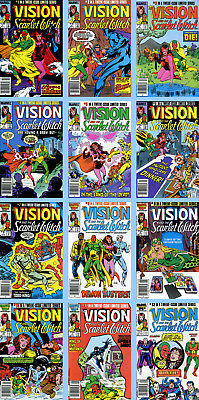 VISION AND THE SCARLET WITCH Vol.2 #s 1-12 ULTRON 1985-86 NM Marvel NewsStand Ed