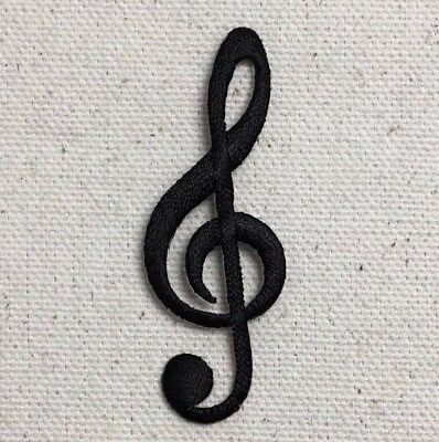 Treble Clef Iron On Patch Embroidered Musical Note G Clef Symbol
