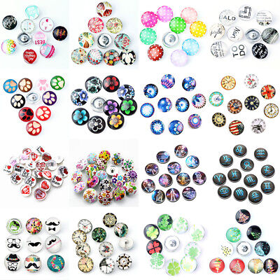 Wholesale 10pcs/lot 12/18mm Snap Charm Button Fits Ginger Snap Style Jewelry