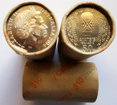 Scarce Low mintage 2014 RAM AIATSIS 50 cent roll uncirculated