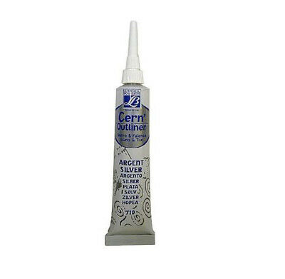 SILVER 20ml TUBE LEFRANC BOURGEOIS GLASS TILE PAINT CERNE RELIEF OUTLINER PASTE