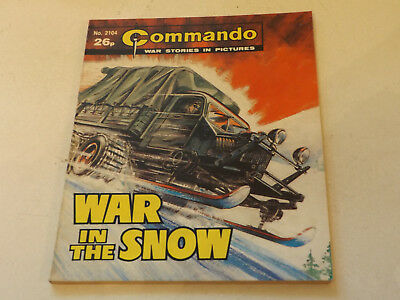 Commando War Comic Number 2104!!,1987,v Good For Age,30 Year Old Issue,v Rare.