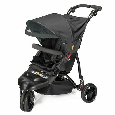 NUEVO Out n About Little Nipper 3 WHEEL Cochecito Bebe - negro azabache