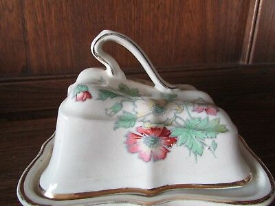 1920's Arthur Wood Butter/Cheese Dish Floral