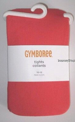 Gymboree Friendship Camp Tights Size 10-12 New Coral Girls