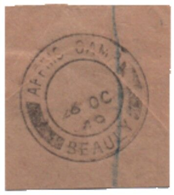 1949 postmark AFFRIC CAMP. Workers' post office - dam construction