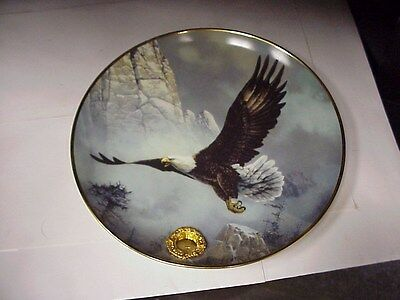 """Save The Eagle 8"""" Franklin Mint Collector Plate E-1804"""