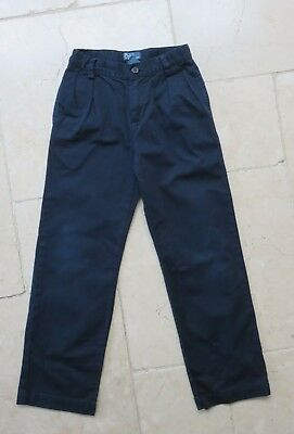 Polo Ralph Lauren Boys navy Blue Chino Cotton Trousers 7 yrs