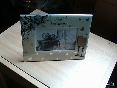 50th Anniversary Photo frame  Picture frame  Golden wedding