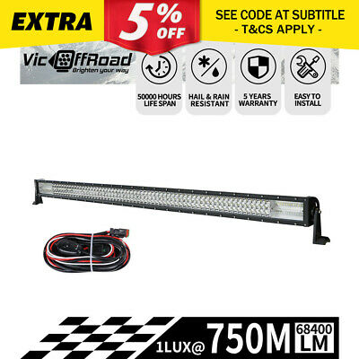 50inch LED Light Bar Philips Spot Flood Driving Lamp Offroad 4WD SUV JEEP Truck