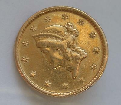 1853 $1 Dollar United States Gold Coin Liberty Gold Coin Jewelry