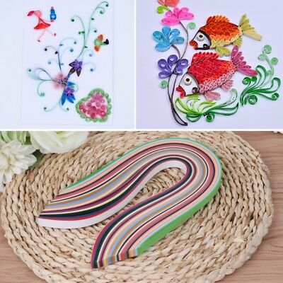 New Paper Quilling Strips 260 Pcs 26 Colors 15.35-inch Length for Craft Projects