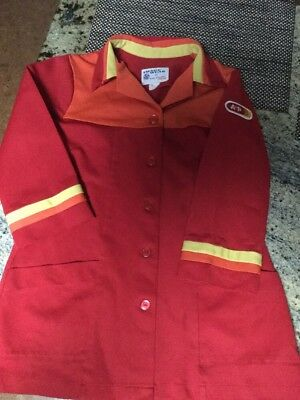 Vintage 1970/1980's A & P Grocery Clerk Jacket Classic Red Image Wear Uniforms M
