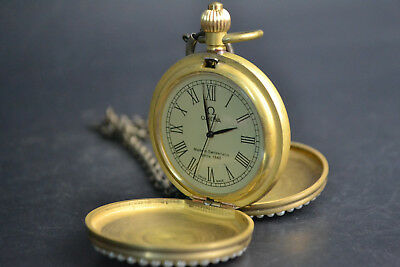 China Collectible Copper Made Hand-mechanical Used conjoint Culture nice Clock