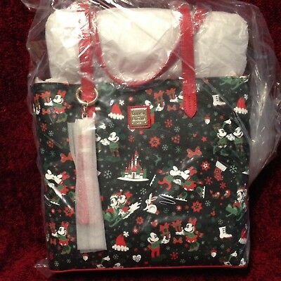 Disney Dooney & and Bourke Woodland Winter Tote Christmas New Sealed