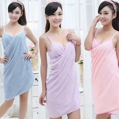 Women Fast Drying Wearable Bath Towel Shower Bath SPA Wrap Body Beach Bathrobe.