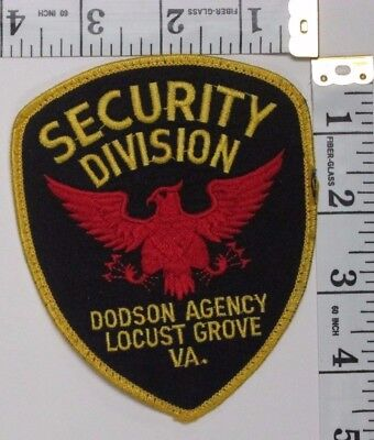 Locust Grove Virginia Security Division Shoulder Patch