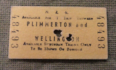 #D331. New Zealand Train Ticket - Plimmerton & Wellington