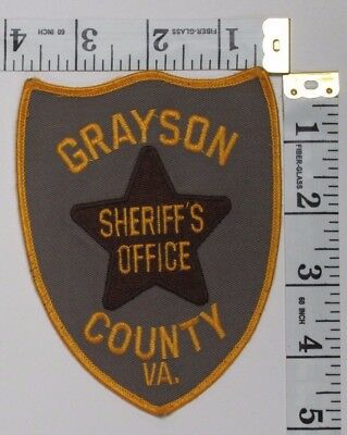 Grayson County Virginia Sheriff's Office Shoulder Patch
