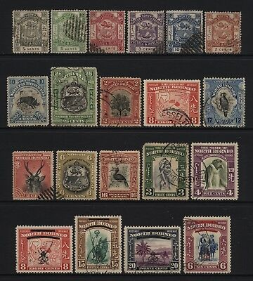 North Borneo Collection 20 Stamps Used