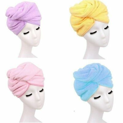 Bamboo Cap Bath Hat Towel Spa Salon Dryer Quick Dry Towels Hair Drying Magic Pop