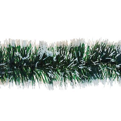 2m 6ply Garland Green Snow Tipped Tinsel Christmas Tree Home Decoration Festive