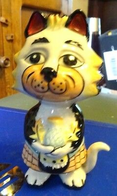 Lorna Bailey Scottish St Andrew Cat Limited Edition 1/2  FREE P&P