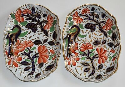 1800-1815 Pair of English or Japanese Imari Oval Serving Platters