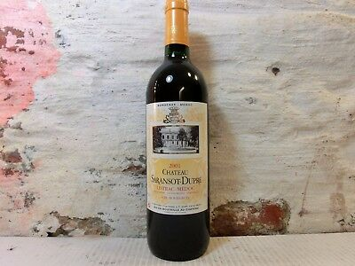 1Fl. 0,75 Ltr. 2001ChateauSaransot DupreListrac Medoc