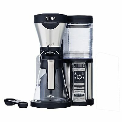 Ninja CF080 Coffee Bar Brewer with Glass Carafe and Auto-IQ 1 Touch Intelligence