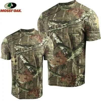 Nwot~ 2 Pack Men's Mossy Oak Break-Up Infinity Tee-Shirts W/ Chest Pocket. Sharp