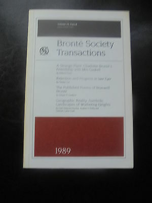 1989 Charlotte Emily Bronte Society Transactions Publication