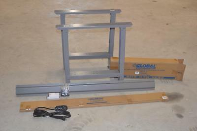 "Global WorkBench Legs Adjustable Height 27-7/8 To 35-3/8 30"" Table 60"" Stringer"