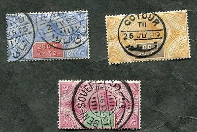 Stamp Lot Of Egypt Salt Tax Revenue Items, Nice Cancellations