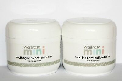 2 x Waitrose Baby Bottom Butter...New Design Packaging...2 x 125ml.