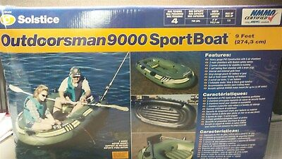 Inflatables Water Sports Inflatable Fishing Boat Raft 4 Person Solstice Outdoorsman 9000 Reinforced Vinyl